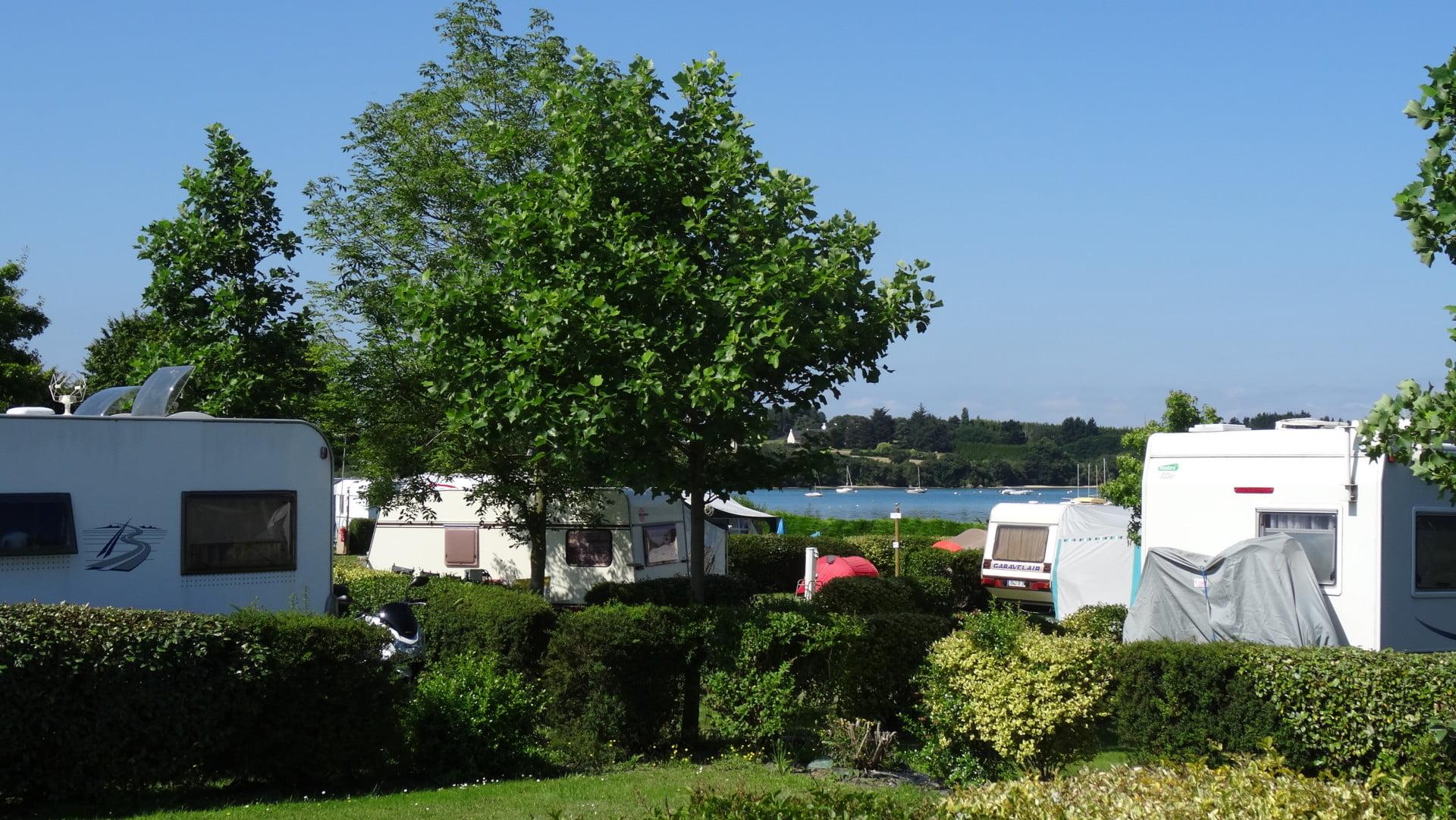 vue frémur plan d'eau vue mer camping 2* saint-briac sur mer bretagne